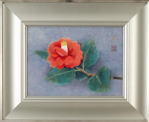 red camellia by sokyu yamamoto