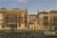 vue du grand canal et de la ca' d'oro à venise by alexandre raulin