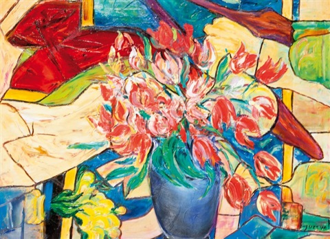 vase de tulipes by querval