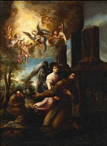st francis in the arms of an angel by juan de valdés leal