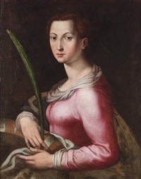 saint catherine by agnolo bronzino