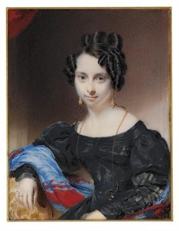 a young lady in black dress by william jnr patten