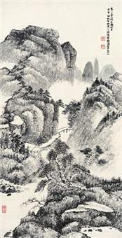 溪山雨雾 by xiao junxian