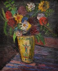 bouquet au vase jaune by pierre ambrogiani