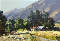 early morning, morven ferry road, wakatipu by douglas badcock