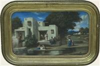 scène de village en algérie by emmanuel joseph lauret