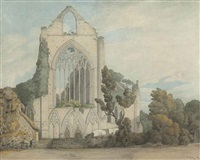 the west front of tintern abbey, monmouthshire by francis towne