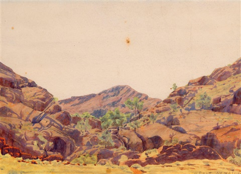 gosse ranges central australia by albert namatjira
