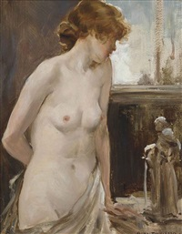 female nude by allan douglas davidson