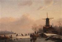 a winter landscape by jacobus freudenberg