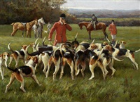 the master and his hounds by alfred duke