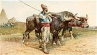 a herder with buffalo by giuseppe raggio