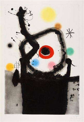 le rebelle by joan miró