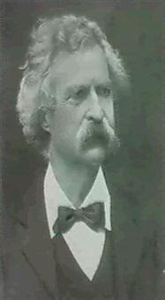 portrait of mark twain by arthur (ph) dunn