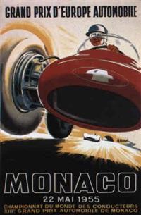monaco grand prix 1955 by posters: sports - monaco grand prix