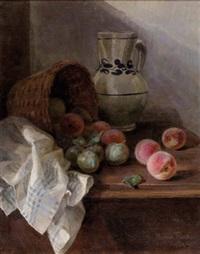 stillleben mit obst und krug by rosina del fabro