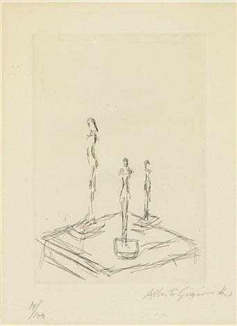 three figurines trois figurines by alberto giacometti