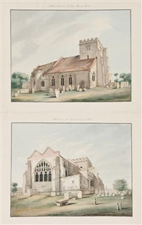 church architecture and antiquities of kent (36 works on 35 sheets) by thomas fisher