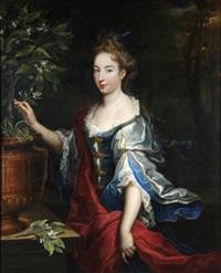 portrait de femme au citronnier by nicolas fouche