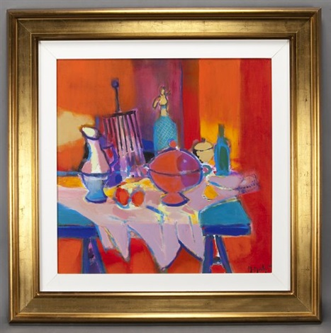 nature morte siphon grill et soupiere by marcel mouly
