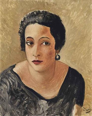 portrait de madame francis carco by andré derain