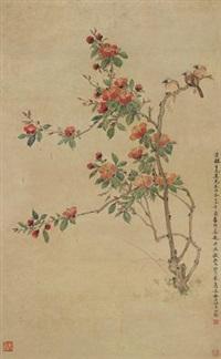 花鸟 (flowers) by deng fen