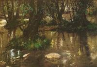 lago en el bosque by agustin lhardy garrigues