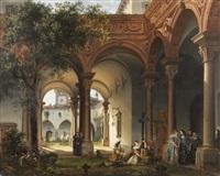louis xiv et mademoiselle de la vallière au couvent de chaillot by giovanni migliara