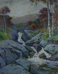 tumbling river in upland snowdonia by john mcdougal