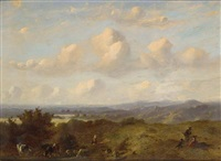 a panoramic landscape near cleve by johannes (jan) tavenraat