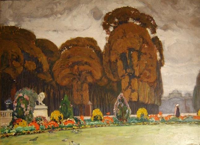 le jardin du luxembourg by auguste leroux