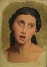 tete de rachel, le tragedienne by jean-auguste-dominique ingres