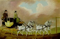 a carriage on the london road by clifton tomson