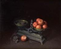 bodegón con naranjas y balanza by fernando rivero