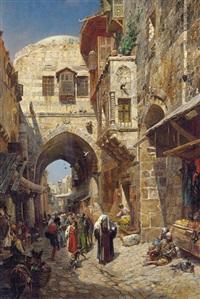 david street, jerusalem by gustav bauernfeind