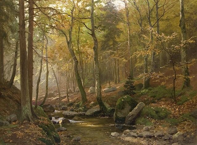 am waldbach by heinrich böhmer
