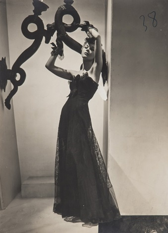fashion study of chanel dress for vogue by horst p horst