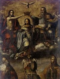 la coronación de la virgen by peruvian school-cuzco (17)