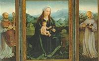 maria mit kind und den heiligen bruno von köln und bernhard von clairvaux by german school-cologne (16)