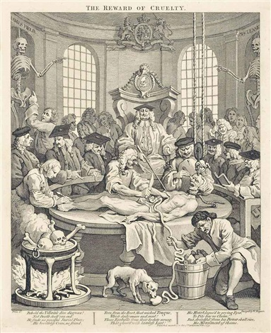 the four stages of cruelty 4 works by william hogarth