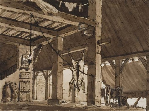 slaughterhouse interior by carlo labruzzi