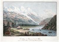 le village des bois, le bord de l'arve by jean-françois albanis de beaumont