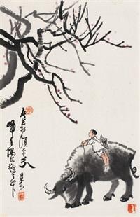 春牧 镜心 设色纸本 by li keran