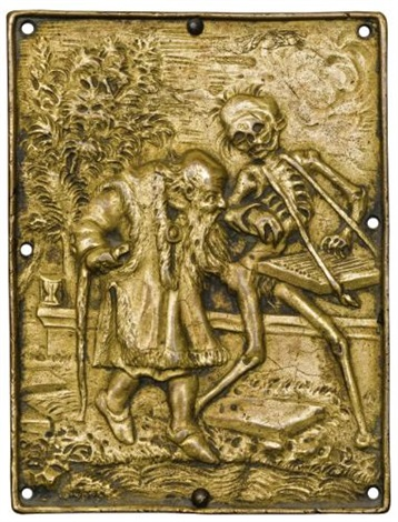 plaquettes with the totentanz dance of deathset of 16 by hans holbein the younger