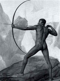study of an archer by a. buizard