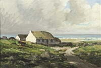 showery day near rosbeg, co. donegal by rowland hill