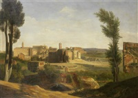 a view of the forum, rome by jean charles joseph remond