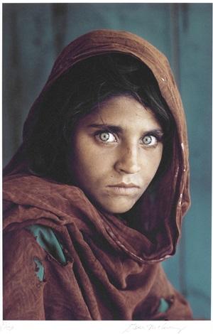 afghan girl (sharbat gula), pakistan by steve mccurry