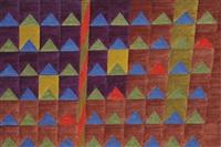 bandeirinhas com mastro (no. 2133) by alfredo volpi