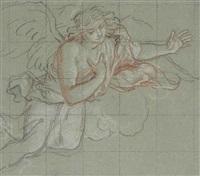 an angel in the clouds by antoine coypel